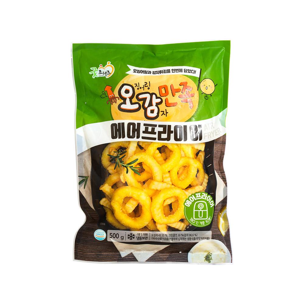 에어프라이어 오징어링 감자튀김 오감만족500g